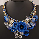 European Style Fashion Metal Exaggerated Luxury Sweet Gorgeous Flower Short Necklace