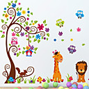 stickers muraux stickers muraux, girafe et du lion muraux PVC autocollants