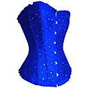 Shapewear Corsets Chinlon Polyester Crystal Rhinestone Black Blue Red Purple Sexy Lingerie Shaper