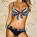 Women's Vintage Bohemia Style Triangle Design Pattern  Halter Beach Swimwear Bikini Set