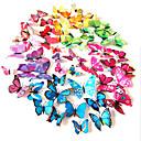 3d pvc simulación colorido pegatinas de pared de la mariposa 12pcs / set