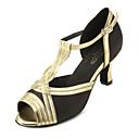 Chaussures de danse (Or) - Personnalisable - Talons personnalisés - Satin/Similicuir - Salle de bal/Danse latine/Salsa