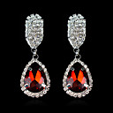 Fashion Wedding Party Rhinestone Earrings With Crystal Earrings(Blue Green White Red)(1 pair)