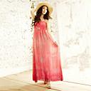 Women's Beach Inelastic Sleeveless Maxi Dress (Chiffon)