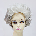 Capless Short Synthetic Gray Wavy Synthetic Womens Wigs