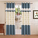 One Panel Mediterranean Geometric Blue Living Room Curtains Drapes