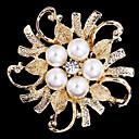 Legierung Perle Schal Clip-Brosche für Frauen Party