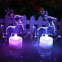 LED 7 Colors Changing Acrylic Christmas Deer Night Light Lamp Home Decor Gift