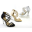 Western style fashion sandals shoes single crystal split joint mesh heels fine  simple brief single shoes