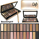 24 Color Crease Eye Shadow 3in1 Matte Shimmer&Glitter Smoky Urban Decay Color Makeup Palette with Brush&Mirror