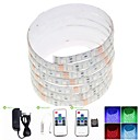 5m 75W 300x5050 SMD LED DC12V IP68 vandtæt strimmel lys + 10Key fjernbetjening rgb + 12v 2a magt, 100-240 V