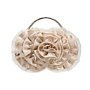Women Satin Minaudiere Tote / Evening Bag - Beige / Pink / Silver / Black / Champagne / Almond