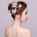 Femme / Jeune bouquetière Strass / Imitation de perle Casque-Mariage / Occasion spéciale Fleurs 4 Pièces
