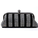 Women Satin Minaudiere Tote / Evening Bag - Black