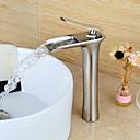Basin Enkelt håndtag Et Hul in Nikkel Børstet Håndvasken vandhane