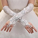 Elbow Length Fingerless Glove Elastic Satin Bridal Gloves / Party/ Evening Gloves