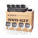 cotier® poe 8ch NVR Kits 720p / mini / p2p / H.264 / IP-Kamera n8b7 / kit-poe