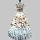 Αμάνικο Μπεζ Σατέν Βαμβακερό Μακρύ Φόρεμα σε Γραμμή Λολίτα