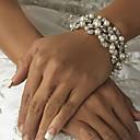 Imitatieparel / Legering Dames Chain / Streng / Ronde Armbanden Armbanden Imitatie Parel / Bergkristal