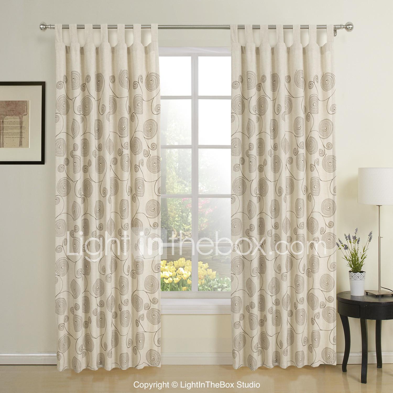 Deux panneaux modernes beige nouveauté éco rideaux de fenêtre ...