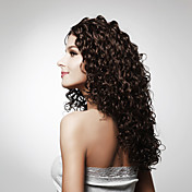 sin tapa de alta calidad de grado sintético peluca pelo rizado largo de múltiples colores disponibles