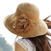 polka květ sunblock sláma floppy hat