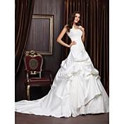 NEEA - kjole til Bryllupskjole i Satin og Lace med wrap