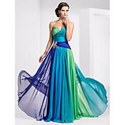 tscouture®by aラインストラップレス恋人の床の長さのシフォンウエディングドレス