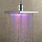 Contemporáneo Ducha lluvia Cromo Característica for  LED / Efecto lluvia , Alcachofa de la ducha