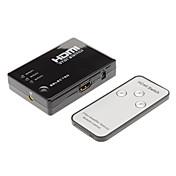 hdmi interruptor 3in HDMI1.3 1080p 1out con mando a distancia