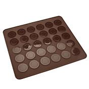 30 agujeros de silicona cookies de macarrón estera cm-83