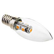 1W E14 Luces LED en Vela C35 7 SMD 5050 70 lm Blanco Cálido Decorativa AC 100-240 V