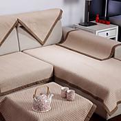 怡澜棉质包边沙发垫70*210cm华夫格浅咖