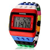 男性 女性用 ユニセックス ファッションウォッチ 腕時計 ウッド デジタルウォッチ LCD カレンダー クロノグラフ付き アラーム デジタル Plastic バンド キャンディ クール 多色