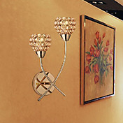 Cristal Candelabro de pared,Moderno/ Contemporáneo E12/E14 Metal