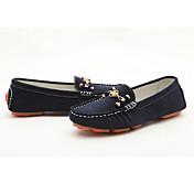 Moolecole Dames Dark Blue Wool Zweep Rubber Sole Soft Leisure Moccasin-Gommino Schoenen