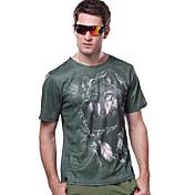 Hombre Camiseta para senderismo Secado rápido Resistente a los UV Transpirable Camiseta para Camping y senderismo Pesca Escalada Carreras