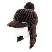 Gorro de Esquí Esquí Caps/Gorro Mujer Mantiene abrigado / Resistente al Viento Tabla de Snowboard Poliéster / Tejido de lanaRojo / Café /
