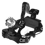 照明 ヘッドランプ LED 1600 ルーメン 1 モード 18650 防水 キャンプ/ハイキング/ケイビング / サイクリング / 釣り / ワーキング / 登山 アルミ合金 / プラスチック