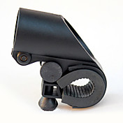 Forma de pistola Negro ABS Bike Linterna Clip (adaptable a diámetro del manillar dentro 2.7cm)