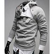 Tops Luxury Fleece Espesar con capucha Shangdu hombres (Gris claro)