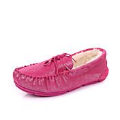 IG.SHOES Warm Genuines Leder Velvet Schuhe (Fuchsia)