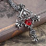 Joyas Gosurori Collar Victoriano Rojo Accesorios de Lolita Collar Retazos por Gemas Artificiales