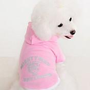 Perros Saco y Capucha Rojo Azul Rosado Ropa para Perro Invierno Primavera/Otoño Letra y Número Casual/Diario