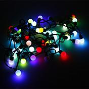 Los 5M 3W luz de la bola del RGB 50-LED en forma de luz de tira del LED (220)