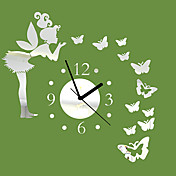 20「Hモダンなスタイル角度蝶ミラー壁掛け時計