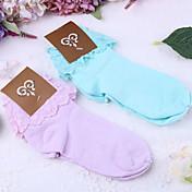 čarape Sweet Lolita Lolita Plav Crvena Lolita Pribor Čarape Jednobojni Za Čipka Poliester