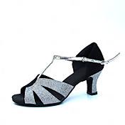 Zapatos de baile (Plata) - Danza latina/Moderno/Salón de Baile - No Personalizable - Tacón grueso