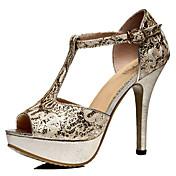 Guciheaven Női koreai Sexy Stiletto Heel Shoes (Gold)
