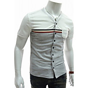 TizelandメンズスプライシングVネックTシャツ